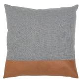 Amigos de Hoy Leather & Linen Block Cushion