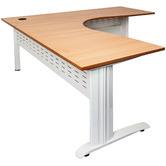 Rein Office Natural-Top Lawson Span Corner Workstation