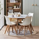 Temple & Webster Nova Beech & Faux Leather Dining Chairs