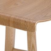 Temple & Webster 65cm  Kobe High Back Ash Wood Barstool
