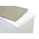 Temple & Webster Hamptons Cushioned Storage Bench