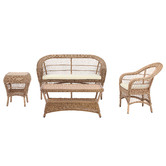 Temple & Webster Classic Raffles Outdoor PE Rattan Side Table