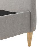 Temple & Webster Grey Nordic Deco Upholstered Bed