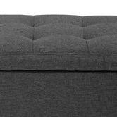 Temple & Webster Emily Upholstered 100cm Storage Ottoman