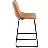 Temple & Webster 66cm Phoenix Vintage-Style Faux Leather Barstools