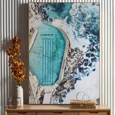 Temple & Webster Blue Bronte Rocks Framed Canvas Wall Art