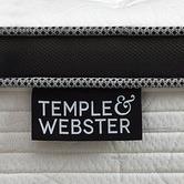 Temple & Webster Chiro Plush Euro Top Pocket Spring Mattress