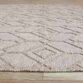 Temple & Webster Beige Terra Hand-Woven Wool Blend Rug