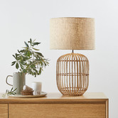 Temple & Webster 63cm Natural Havana Rattan Table Lamp