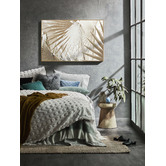 Temple & Webster Sun-Kissed Palms Framed Canvas Wall Art