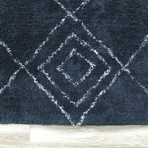 Temple & Webster Navy Blue Siena Cotton Rug