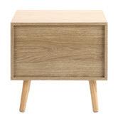 Temple & Webster Natural Lars 2 Drawer Bedside Table