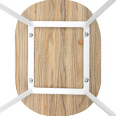 Temple & Webster Premium Vintage-Style Elm Wood Barstools with White Legs