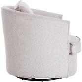 Temple & Webster Light Grey Twisty Swivel Armchair