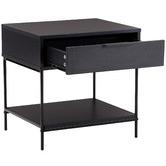 Temple & Webster Black Baxter Bedside Table