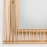 Temple & Webster Tulum Arched Rattan & Metal Mirror