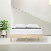 Temple & Webster White Wash Beckham Pine Wood Bed Base