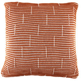 Temple & Webster Rust Acre Knitted Cotton Cushion