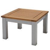 Temple & Webster Natural Maui Eucalyptus Wood Outdoor Side Table