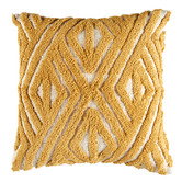 Temple & Webster Ochre Clove Tufted Cotton Cushion