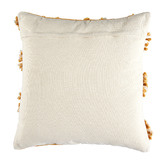 Temple & Webster Ochre Demi Hand-Embroidered Cotton Cushion