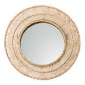 Temple & Webster Lennon Round Rattan Mirror