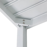 Temple & Webster White Kos Square Aluminium Outdoor Bar Table