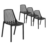 Temple & Webster Slouch UV-Stabilised Outdoor Dining Chairs