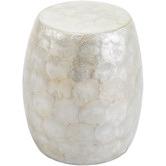 Temple & Webster White Ariel Capiz Side Table