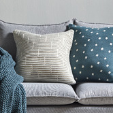 Temple & Webster Grey Acre Knitted Cotton Cushion