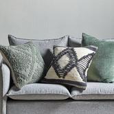 Temple & Webster 3 Piece Sage & Natural Cotton Cushion Set
