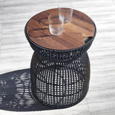 Temple & Webster Cinch Poly Rattan Alfresco Side Table