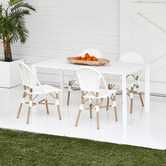Temple & Webster White Kos Aluminium Outdoor Dining Table