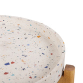 Temple & Webster Mazie Terrazzo & Wood Outdoor Side Table