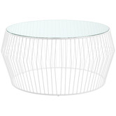 Temple & Webster Navona Glass-Top Coffee Table