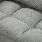 Temple & Webster Grey Urban 2 Seater Upholstered Click Clack Sofa Bed