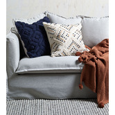 Temple & Webster Pom Pom Knitted Cotton Throw