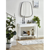 Temple & Webster White Roby Console Table