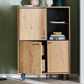 Temple & Webster Wild Oak Diego Display Cabinet