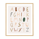 Temple & Webster Alphabet Neutral Framed Printed Wall Art