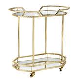 Temple & Webster Bahamas Metal & Glass Bar Cart