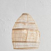 Temple & Webster Natural Amalfi Rattan 50cm Tall Pendant Light