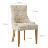 Temple & Webster Beige Windsor Scoop Back Dining Chairs
