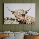 Temple & Webster Shaggy Cow Framed Canvas Wall Art