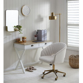 Temple & Webster Natural & White Southampton Office Desk