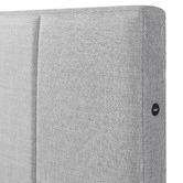 Temple & Webster Light Grey Imogen Upholstered Bed with USB