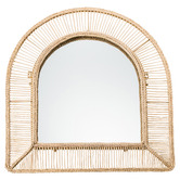 Temple & Webster Cora Arched Wicker Wall Mirror