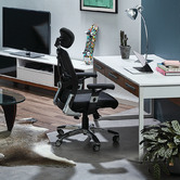 Temple & Webster Deluxe Mesh Ergonomic Office Chair with Headrest