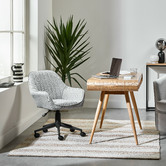 Temple & Webster Grey Kinsey Fabric Office Chair