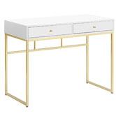 Temple & Webster Monroe Gold Office Desk